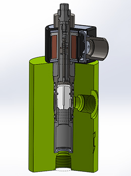 High Pressure Solenoid Valve – EH50 Section Rendering