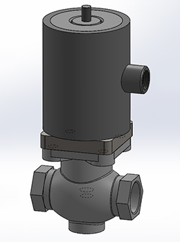 High Pressure Solenoid Valve – EP70 Section Rendering