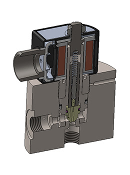 High Pressure Solenoid Valve – EX40 Section Rendering